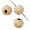 Gold-filled 14kt Bead 1mm Hole Round Sparkle 4mm
